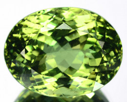18.30 Cts Natural Nice Green Apatite Oval Cut Brazil