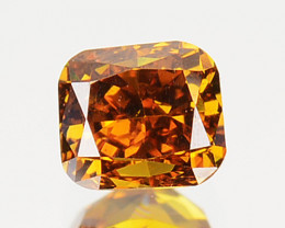 ~UNTREATED~ 0.24 Cts Natural Cognac Brownish Diamond Cushion Africa