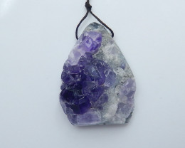 264cts natural amethyst nugget rough gemstone pendant   (A693)
