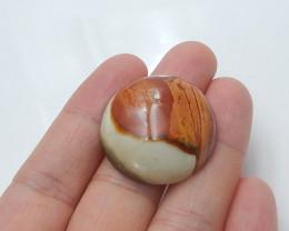 38.5cts Sale ocean jasper round cabochon beads semi-gem wholesale (A763)