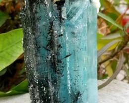 481 Gram Pretty Blue Aquamarine Combined With Black Tourmaline - Pakistan -