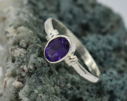 RING 925 STERLING SILVER AMETHYST  NATURAL GEMSTONE JE1311