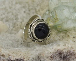 RING 925 STERLING SILVER BLACK ONYX  NATURAL GEMSTONE JE1313