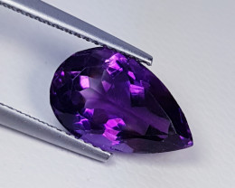 """4.45ct """"Collector's Gem"""" Stunning Pear Cut Natural Amethyst"""