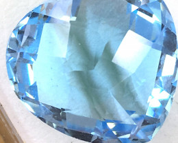 Fancy Cut Heart Shaped Blue Topaz 21.85 ct     JC