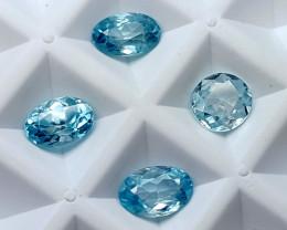 4.80CT BLUE ZIRCON PARCEL BEST QUALITY GEMSTONE IGC36