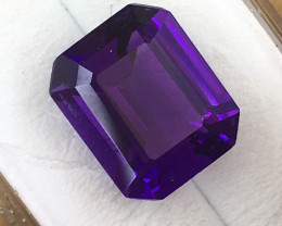 5.15 Carat Rectangular Cut Amethyst     JC