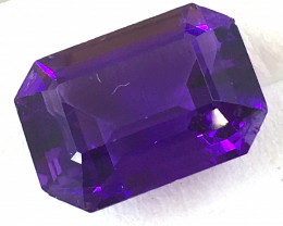 6.65 Carat Emerald Cut Amethyst     JC