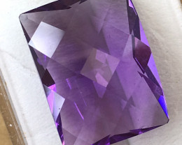 11.21 Carat Rectangular Cut Amethyst     JC