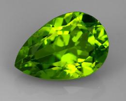3.70 Cts High Best Natural Apple Green pear Pakistan Peridot~