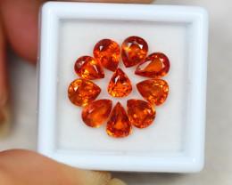 6.94ct Songea Orange Sapphire Pear Cut Lot GW2903
