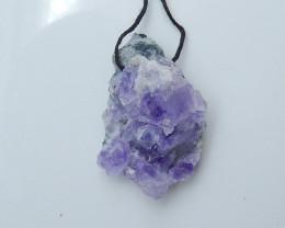 amethyst pendant, raw amethyst, hand cut amethyst, nugget pendant(A680)