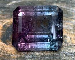 16.60 cts Bluish Purple Tourmaline - Bicolor - Cruzeiro Mine, Brazil