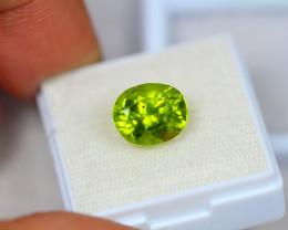 4.67ct Natural Green Peridot Oval Cut Lot V7742