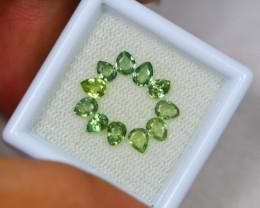 2.35ct Green Sapphire Pear Cut Lot V2970