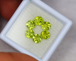 3.32Ct Green Peridot Round Cut Crack Lot B234