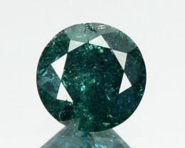 0.26 Cts Natural Deep Blue Diamond Round Cut Africa