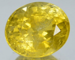 1.10 Cts Natural Canary Yellow Sapphire Oval Cut Madagascar