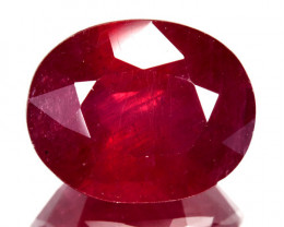 4.37 Cts Pigeon Blood Red Composite Ruby Oval Cut Mozambique