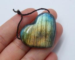 54.5cts  LABRADORITE Heart -Labradorite Stone, Healing Gemstone Heart(A778)