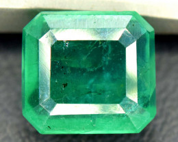 2.35 Carats Emerald Cut Natural Zambian Emerald Gemstone
