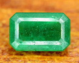 2.55 Carats Emerald Cut Natural Zambian Emerald Gemstone