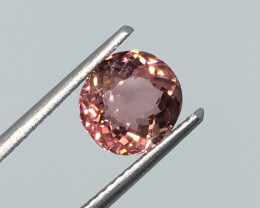 2.04 Carat VVS Tourmaline Peachy Pink Unheated Fabulous Flash !