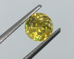 1.32 Carat Russian Sphene Unheated Amazing Flash and Color !