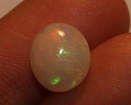 1.65 Crt Natural Ethiopian Fire Opal Loose Gemstone Cabochon 228