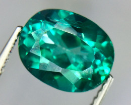 3.39 Crt Natural Green Topaz Beautifulest Faceted Gemstone.( AG 89)