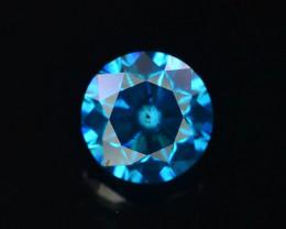 0.60 ct Natural blue Diamond Round Brilliant Cut