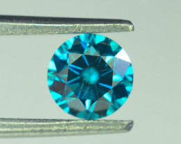 0.55 ct Natural blue Diamond Round Brilliant Cut
