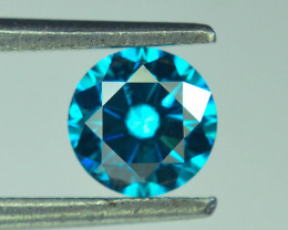 0.60 ct Natural blue Diamond Round Brilliant Cut