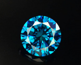 0.50 ct Natural blue Diamond Round Brilliant Cut
