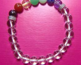 Beautiful beads  Bracelet White Quartz,Citrine,Lapiz Amet