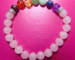Beautiful beads  Bracelet  rose Quartz and mix colors stones