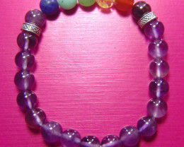 Beautiful beads  Bracelet amethyst and mix colors stones