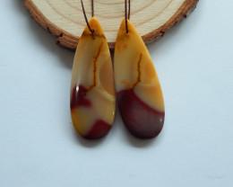 38cts Mookite jasper earrings ,tear drop earrings ,healing stone (A728)