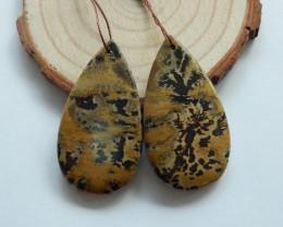 68.5cts Chohua jasper earrings ,tear drop earrings ,healing stone (A734)