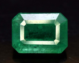 1.65 Carats Emerald Cut Natural Zambian Emerald Gemstone