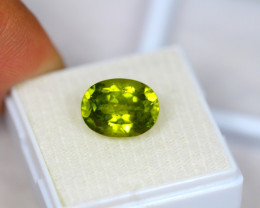 5.91Ct Green Peridot Oval Cut Lot B245