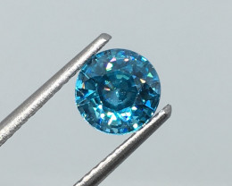 1.86 Carat VS Zircon Caribbean Blue Excellent Cut and Polish Quality !