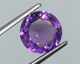 2.85 Carat VS Amethyst Deep Purple Round Uruguay Beauty !