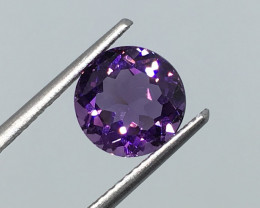 2.17 Carat IF Amethyst Deep Purple Round Uruguay Unheated Quality !