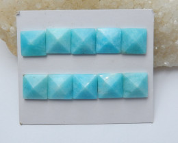 66cts Amazonite pyramid Gemstone Cabochon,Cabochon, Polished Gem(A752)