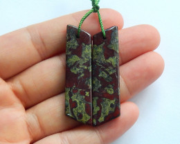 47.25ts Dragon blood Jasper earrings ,earrings ,healing stone (A788)