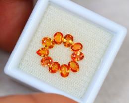 2.31Ct Songea Orange Sapphire Mix Oval Pear Cut Lot LZ1622