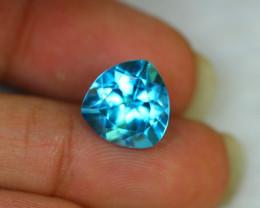 6.99Ct Swiss Blue Topaz Trillion Cut Lot LZ1625