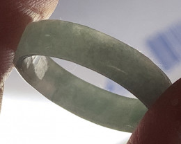 ⭐Fine textured slightly Glassy Jadeite Ring  Size 10 A Grade