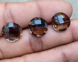 SMOKY QUARTZ CHECKERED CUT PARCEL Natural+Untreated VA1969